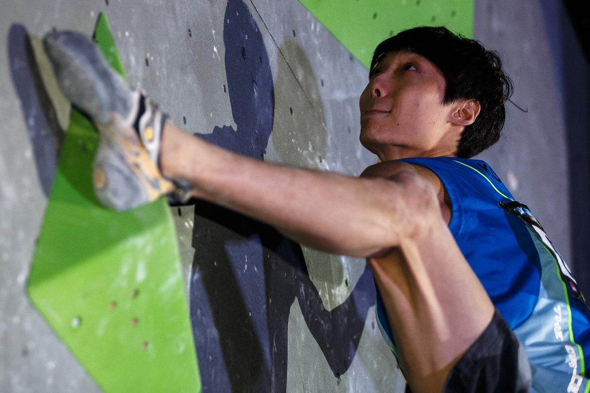 Jongwon Chon gewinnt den Gesamtweltcup Bouldern 2015 (c) Marco Kost