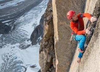 Leo Houlding und Team durchsteigen die Mirror Wall in Grönland (c) Berghaus, Matt Pycroft, Coldhouse Collective