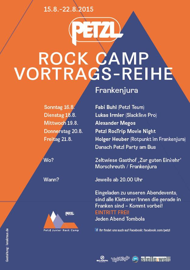 Rock Camp Vortragsreihe 2015 in der Fränkischen Schweiz