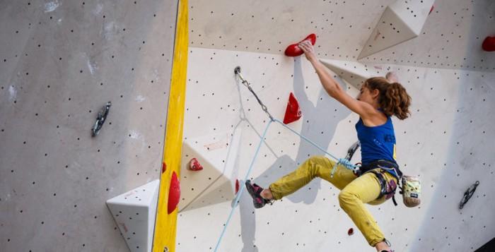 Johanna Holfeld im Deutschen Leadcup 2015 in München-Freimann (c) Marco Kost