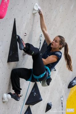 Frederike Fell im Finale des Deutschen Jugend-Leadcups 2015 in München-Freimann (c) Marco Kost