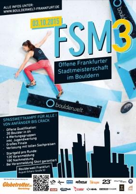 3. Offene Frankfurter Stadtmeisterschaft im Bouldern am 03.10.2015 in der Boulderwelt Frankfurt