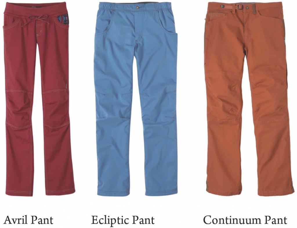 Avril Pant, Ecliptic Pant, Continuum Pant (c) prAna