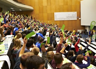 Abstimmung im Rahmen des Bundesjugendleitertags in Tübingen. (c) Ben Spengler
