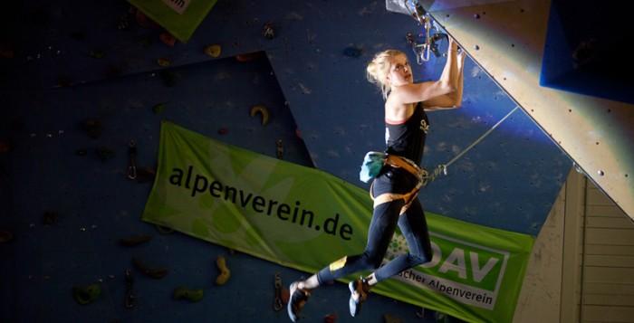 Lena Herrmann beim Deutschen Leadcup 2015 in Frankenthal (c) Christopher Pattberg