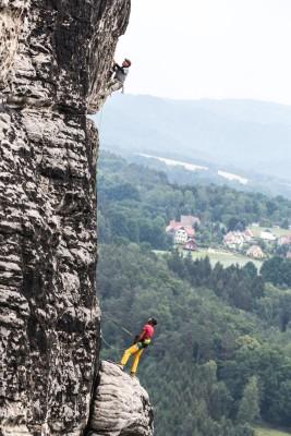 Neuer Dokumentarfilm über das Elbsandsteingebirge von Stefan Glowacz (c) Holger Heuber