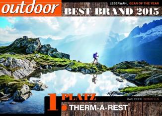 """Therm-a-Rest gewinnt die Outdoor Leserwahl in der Kategorie """"Isomatte"""" (c) Outdoor Magazin"""