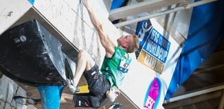Leadweltcup 2015 in Kranj: Jakob Schubert holt Platz 3 in Kranj und im Gesamtweltcup (c) ÖWK/Heiko Wilhelm