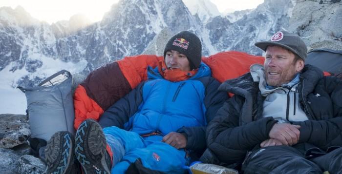David Lama und Conrad Anker: High Spirits am Lunag Ri in Nepal (c) Martin Hanslmayr, Red Bull Content Pool