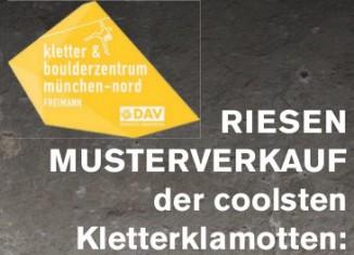 Musterverkauf im DAV Kletter- und Boulderzentrum München-Nord