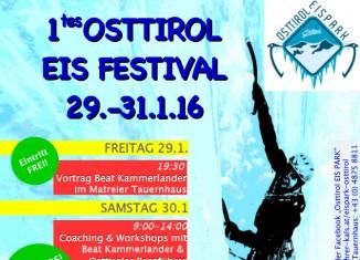 1. Eiskletterfestival in Osttirol