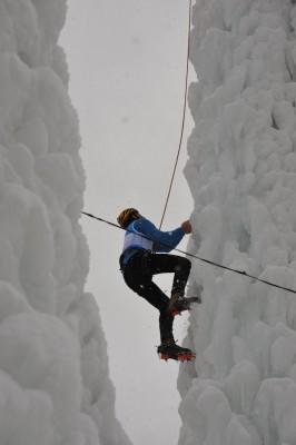Eisklettern bei den Psairer Bauernmeisterschaften