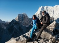David Lama and Conrad Anker attempting the Lunag Ri in Nepal (c) World of Freesports