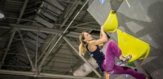 Monika Retschy (DAV München-Oberland) gewinnt den 1. Deutschen Bouldercup in Hannover (c) DAV / Vertical-Axis