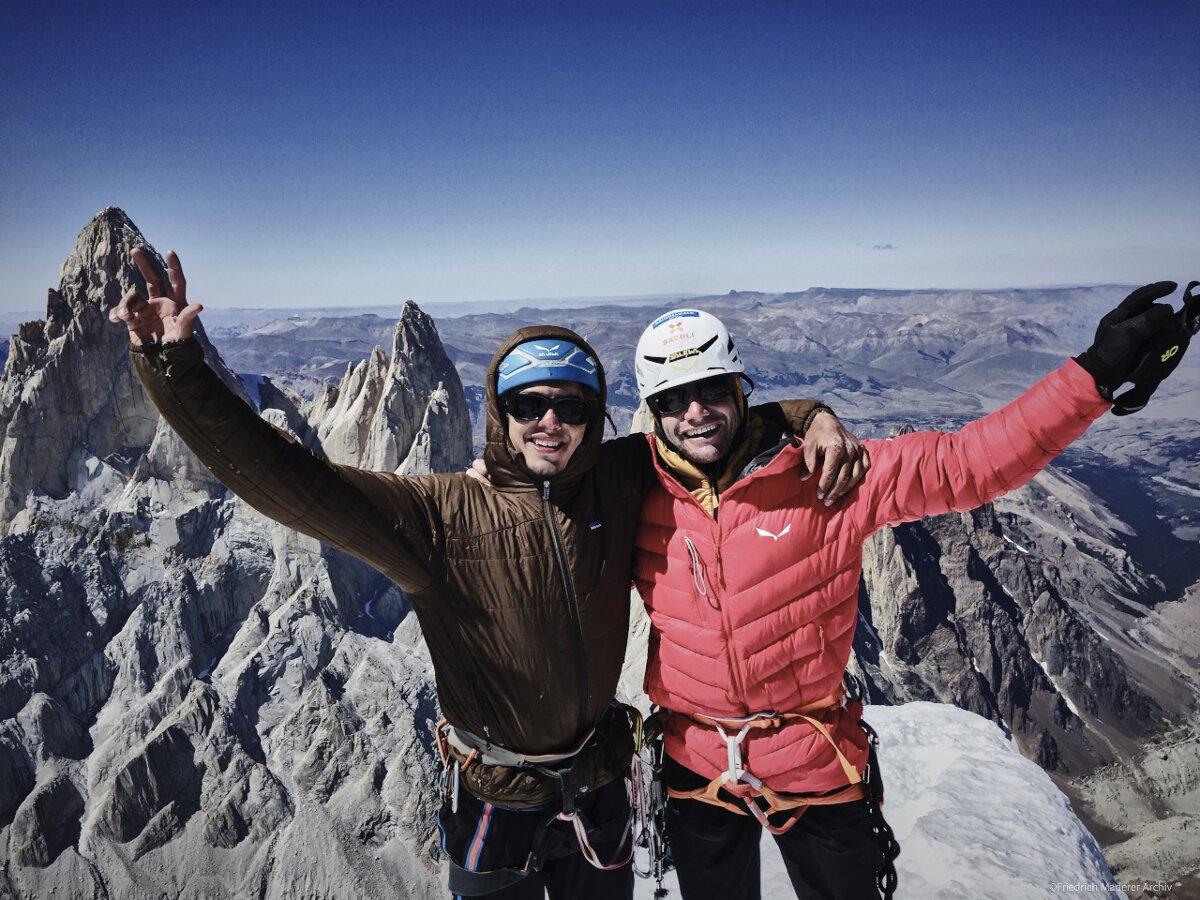 Roger Schaeli und Friedrich Maderer erfolgreich am Cerro Torre (c) Schaeli, Maderer