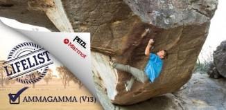 "Jorg Verhoeven on ""Ammagamma"" (V13), Grampians, Australia (c) Marmot Mountain Europe"