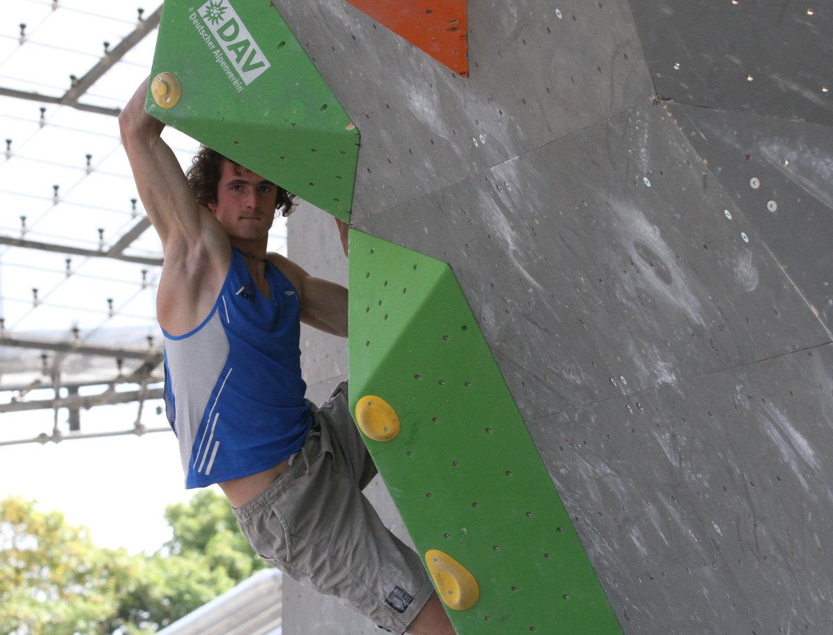 Adam Ondra beim IFSC Boulder Worldcup 2015 in München (c) Henning Schlottmann
