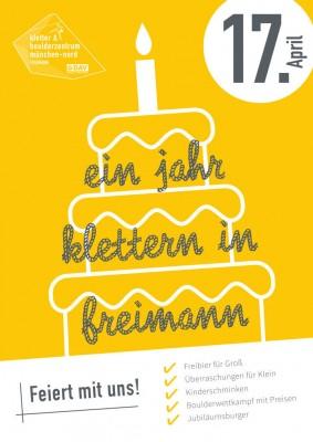 1 Jahresfeier des DAV Kletter- und Boulderzentrum München Nord