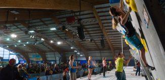 Monika Retschy beim Boulderweltcup in Meiringen (c) IFSC/Eddie Fowke
