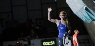Boulderweltcup 2016 in Innsbruck: Gold für Jongwon Chon und Shauna Coxsey (c) Elias Holzknecht