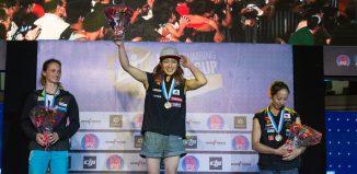 Boulderweltcup 2016 in Navi Mumbai: Monika Retschy sensationell Zweite (c) IFSC/Eddie Fowke