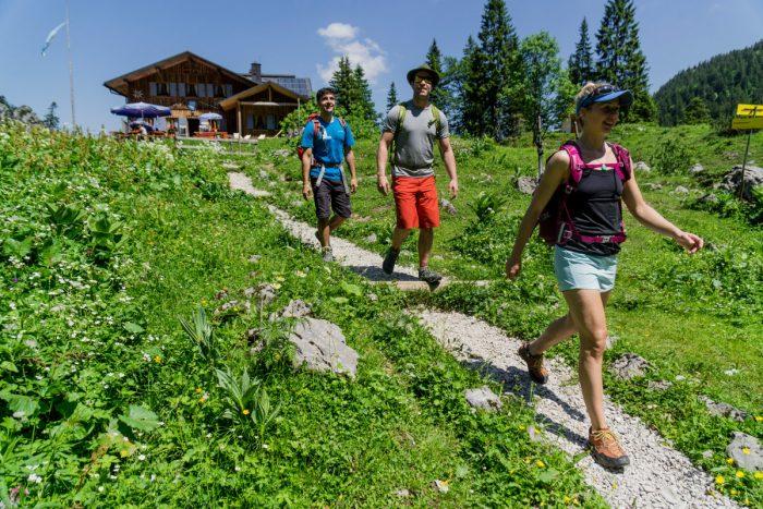 Rund um die Tutzinger Hütte gibt es zahlreiche Wandermöglichkeiten (c) DAV/Hans Herbig