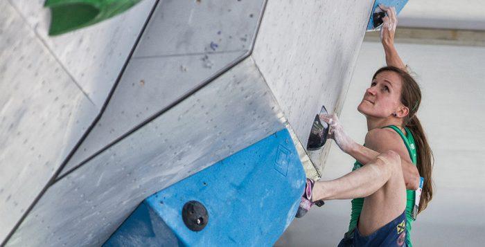 Anna Stöhr beim Boulderweltcup 2016 in Vail (c) KVÖ/Wilhelm