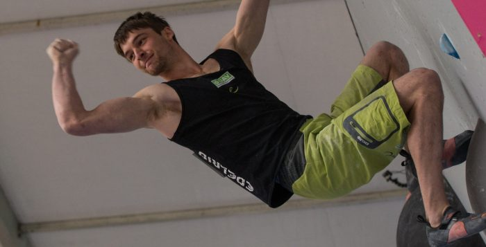 Jan Hojer beim Boulderweltcup 2015 in Vail (c) IFSC/Eddie Fowke