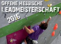 Offene Hessische Landesmeisterschaft Lead 2016