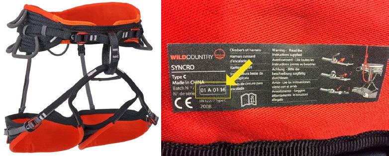 Freiwilliger Rückruf für den Wild Country 'Syncro Klettergurt'