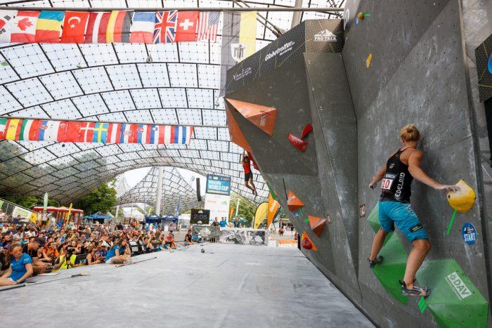 Boulderweltcup 2016 in München im Zeichen von Olympia (c) Marco Kost