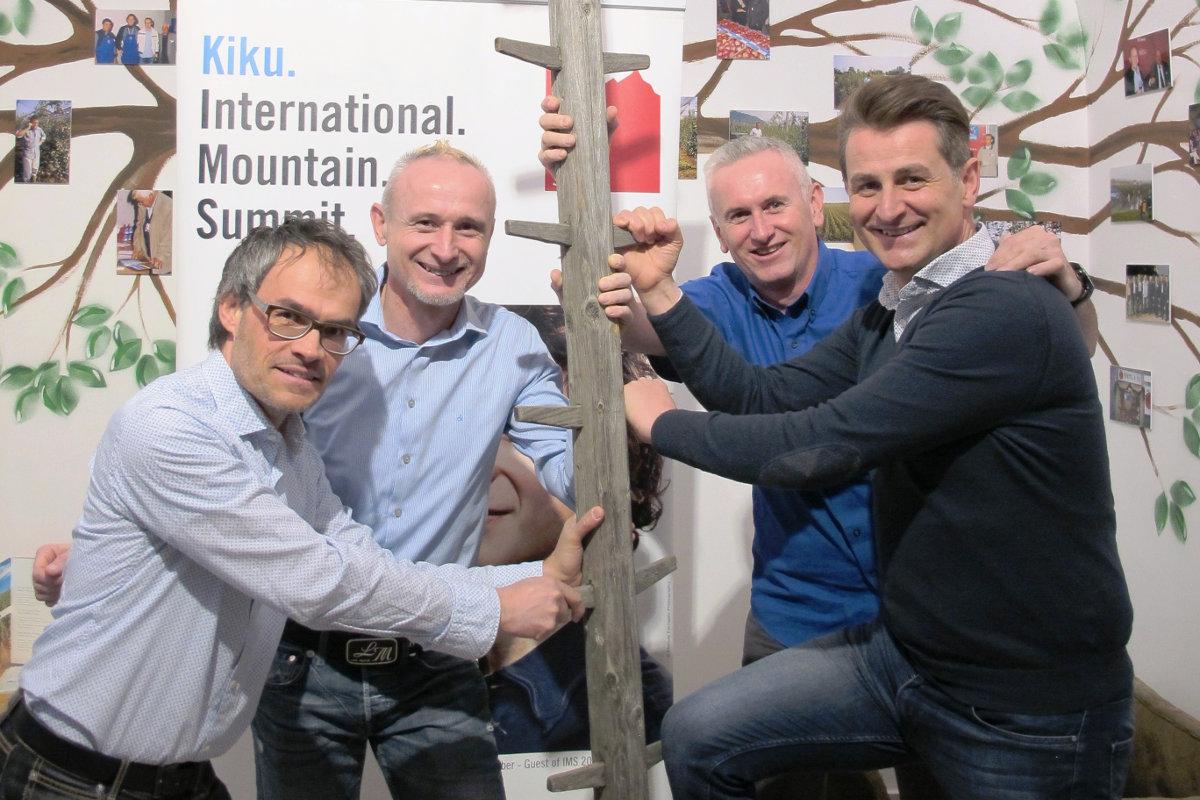 Markus Gaiser (IMS Präsident) – Jürgen Braun (CEO KIKU) – Thomas Braun (KIKU) – Alex Ploner (IMS) (c) IMS