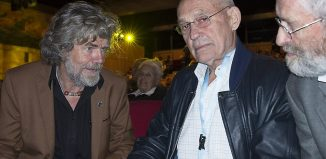 Reinhold Messner, Oswald Oelz und Gert Judmaier beim IMS 2016 (c) Gehard Heidorn