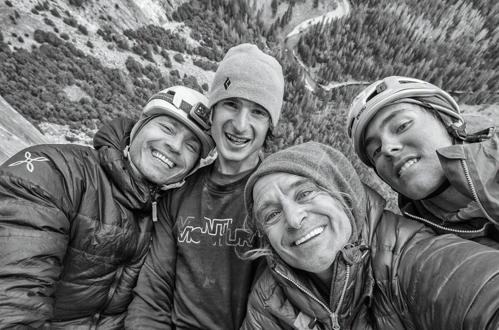 Pavel Blazek, Adam Ondra, Heinz Zak und Christian (c) Heinz Zak