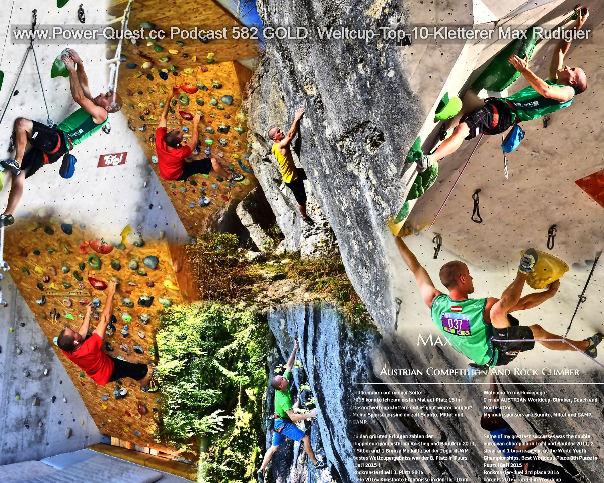 Weltcup-Top-10-Kletterer Max Rudigier (c) Archiv Max Rudigier und Heinz Schmiedl