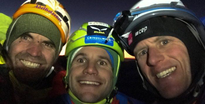 Thomas Huber, Roger Schäli und Stephan Siegrist wiederholen 'Metanoia' am Eiger (c) Archiv: Huber, Schäli, Siegrist