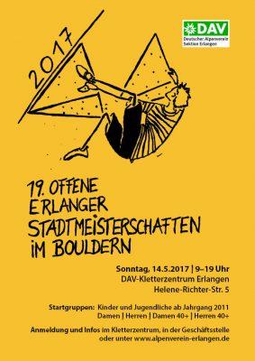 19. Offene Erlanger Stadtmeisterschaften im Bouldern (c) DAV Erlangen