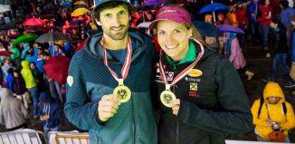 Kilian Fischhuber und Anna Stöhr bei den Österreichischen Staatsmeisterschaften 2017 im Bouldern (c) gruberpictures.at