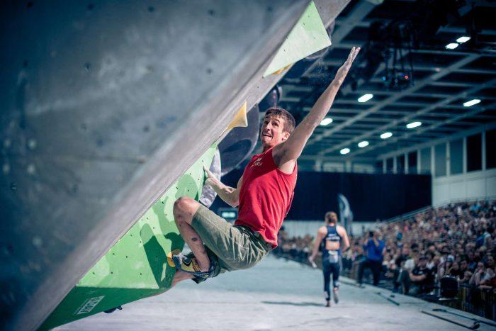 Deutsche Meisterschaft Bouldern 2017: David Firnenburg (c) DAV/Thomas Schermer