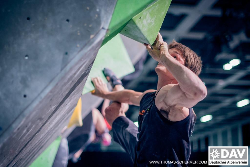 Deutsche Meisterschaft Bouldern 2017: Jan Hojer (c) DAV/Thomas Schermer