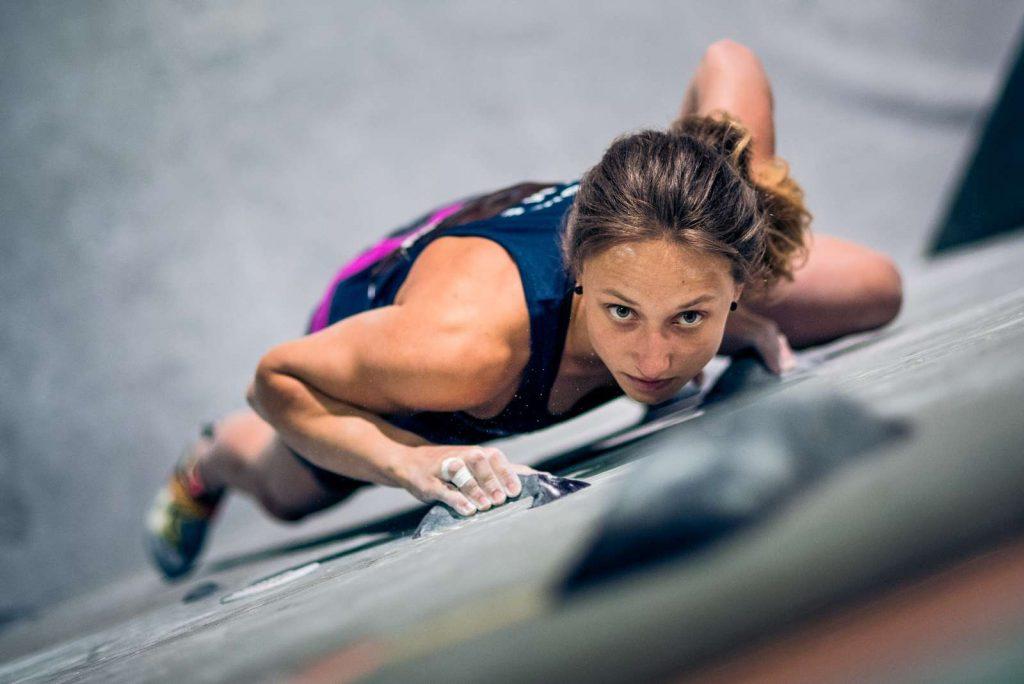 Deutsche Meisterschaft Bouldern 2017: Monika Retschy (c) DAV/Thomas Schermer