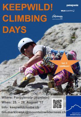 keepwild! climbing days 2017