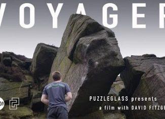 David Fitzgerald on 'Voyager' (8B+) (c) Puzzleglass