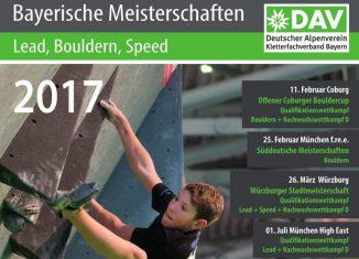Bayerische Jugendmeisterschaften Bouldern 2017 in Nürnberg