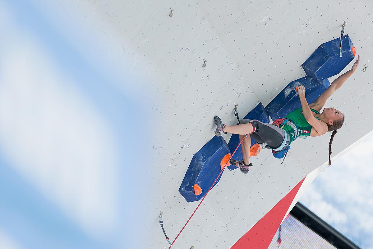 Leadweltcup 2017 in Chamonix: Platz 5 für Jessica Pilz (c) Elias Holzknecht/KVÖ