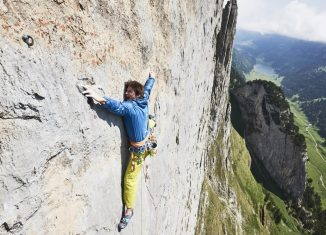 Michi Wohlleben gelingt die Erstbegehung von 'Parzival' (8b) im Alpsteingebirge (c) Frank Kretschmann