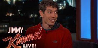 Alex Honnold talks to Jimmy Kimmel on Free Soloing El Capitan (c) Jimmy Kimmel Live