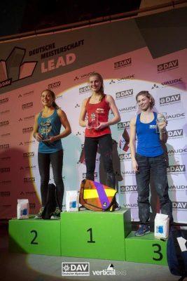 Podium Damen bei der Deutschen Meisterschaft 2017 im Lead (c) DAV/Vertical Axis