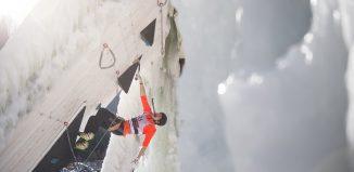Volle Konzentration auf den Eiskletter-Weltcup 2018 in Rabenstein (c) Patrick Schwienbacher