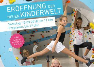 Eröffnung der neuen Kinderwelt in der Boulderwelt Frankfurt am 10. März 2018 (c) Boulderwelt Frankfurt